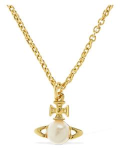 Balbina Faux Pearl Pendant Necklace