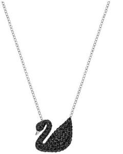 施华洛世奇Swan黑天鹅吊坠项链锁骨链