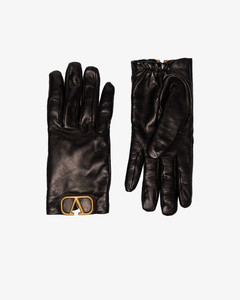 Garavani black VLOGO signature leather gloves
