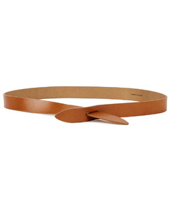 Lecce brown leather belt