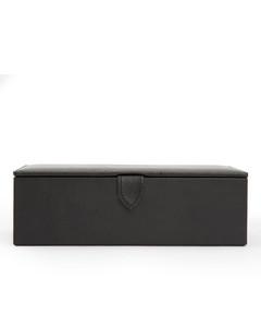 黑色GG宽版皮革腰带