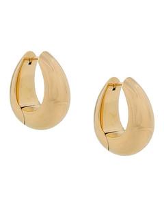 紫水晶和黄色蓝宝石18K白金耳环