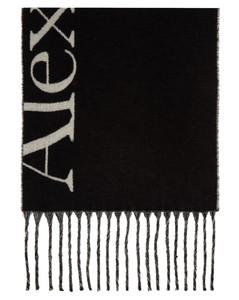 黑色Cosy Giant Logo围巾