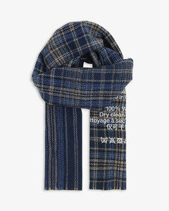 Cassiar checked wool scarf