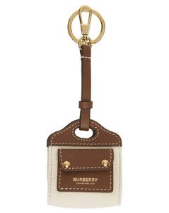 棕色&米色Two-Tone AirPods耳机盒钥匙扣