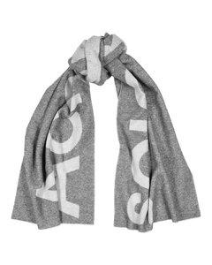 Toronto logo-intarsia wool-blend scarf
