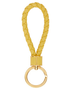 黄色Intrecciato环形钥匙扣
