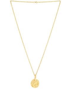 Last Lyre Necklace in Metallic Gold