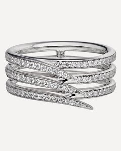 Saturn striped-raffia hat