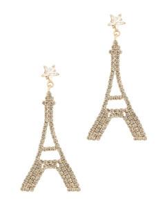 Voyage Paris crystal-embellished drop earrings