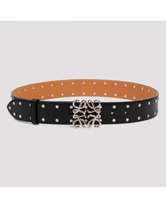 Black Studs Anagram belt