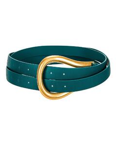 Leather Belt in Blue