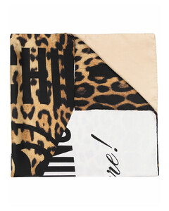 Silk Accessory In Brown & Burgundy