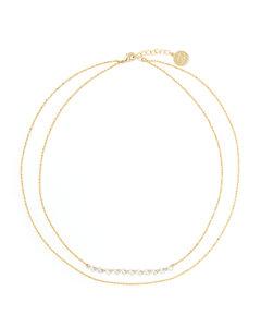 施华洛世奇 天鹅系列混搭多种镀层玫瑰金黑色项链