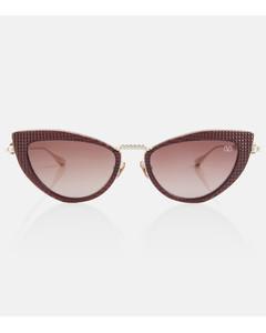 30Montaigne1 rectangular acetate sunglasses