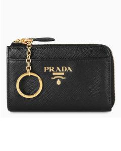 Black key holder with pocket