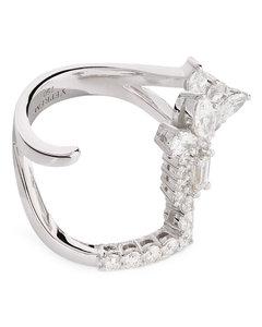 Faux-pearl leather belt