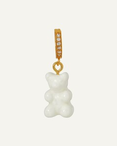 Spiral crystal and sterling-silver necklace
