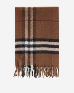 Check motif cashmere scarf