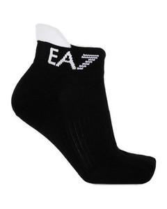 灰色嵌花针织条纹手套