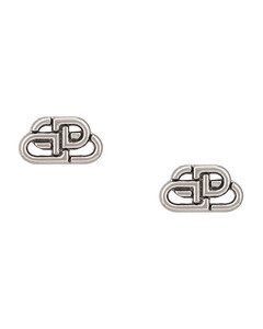 XS BB Stud Earrings in Metallic Silver