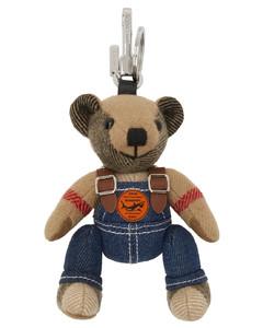 驼色Thomas Bear Charm In Denim钥匙扣