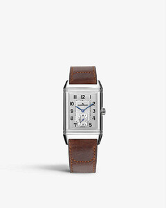 Q3858520 Reverso Classic stainless steel and alligator leather watch