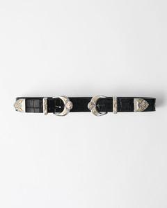 黑色双插扣束腰