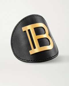Leather And Gold-plated Hair Clip