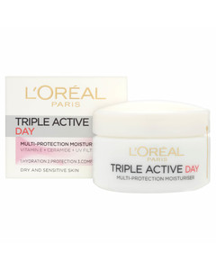 Expertise Triple Active Day Multi-Protection Moisturiser - Dry / Sensitive Skin (50ml)