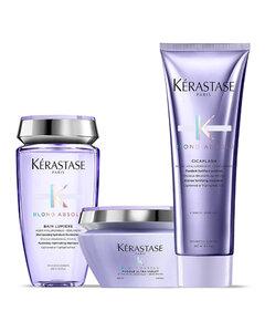Kérastase Blond Absolu Lumiere Shampoo, Conditioner and Masque Trio