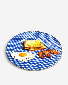 Toiletpaper Breakfast print porcelain plate 27cm