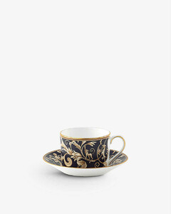 Cornucopia graphic-print china teacup and saucer