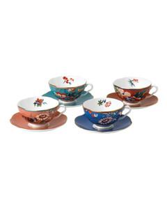 Paeonia Blush Teacup And Saucer (Set Of 4)