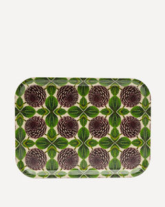 Floral Printed Porcelain Plate W/ Holes