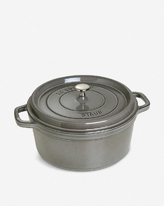 Round cast iron cocotte 28cm