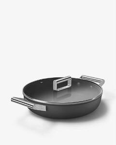 Two-handle aluminium shallow casserole dish 28cm