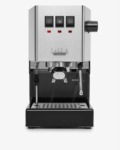 Classic stainless-steel coffee machine