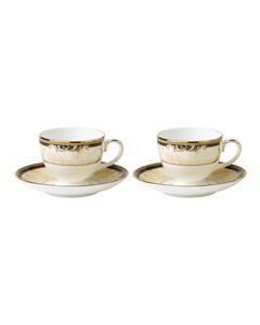 Cornucopia Teacups And Saucers (Set Of 2)