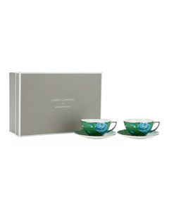 Chinoiserie Teacup And Saucer Gift Box (Set Of 2)