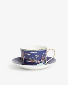 Wonderlust Blue Pagoda teacup and saucer