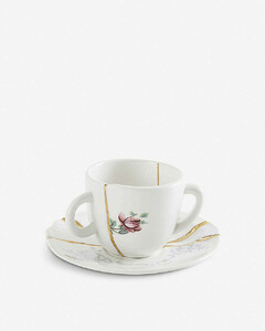 Kintsugi N1 porcelain coffee cup and saucer