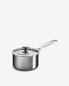Non-stick stainless steel saucepan with lid 16cm