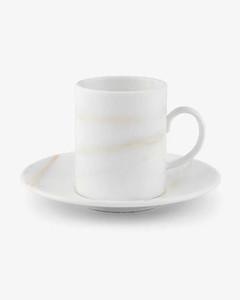 Platinum large tea saucer