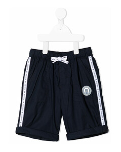 Kids Metallic Logo Printed Sweatshirt