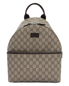 Gg Supreme Logo Faux Leather Backpack
