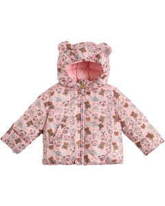 All Over Print Hooded Nylon Down Jacket