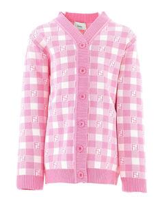 FF pattern cotton cardigan