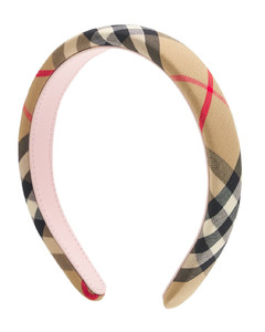 Check Cotton Blend Headband