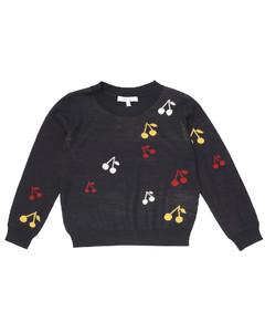 Cherry intarsia wool sweater
